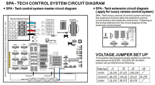 Spa Tech Control System Circuit Diagram