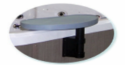 Bar - side mounted pivoting mini bar